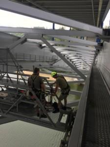 instalace ochrany proti holubům - Žďákovský most